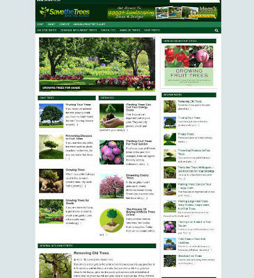 Save The Trees Website Blog With Uk Affiliate Store + Banners & Free Domain
