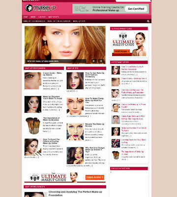 Make Up Uk Website + Blog With Uk Affiliate Streams - New Free Domain + Hosting