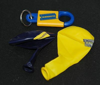Blockbuster Key Chain Blue & Yellow Balloon