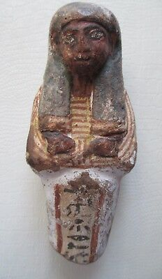 * Authentic & Rare * Colorful Egyptian Shabti - 19th dynasty, Ca, 1279 – 1212 BC