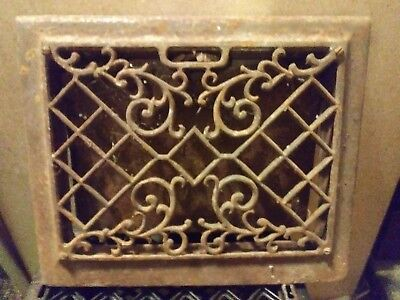 cast iron victorian style heat register grate 14 1/4in x 11 1/2in