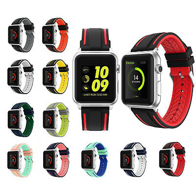 New Sports Silicone Nike Apple Watch Strap Band Bracelet Series 1 2 3  38mm 42mm