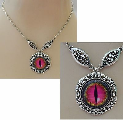 Dragon Eye Pendant Necklace Jewelry Handmade NEW adjustable Accessories Silver