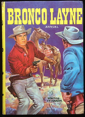 Bronco Layne Annual 1959 Ty Hardin Crazy Horse Stagecoach Western RARE Edition