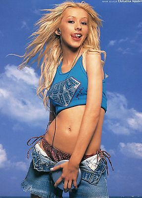 Christina Aguilera Pinup Clipping Sexy Young Belly