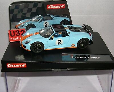 Carrera Evolution 27549 Porsche 918 Spyder #2 Gulf Racing Mb