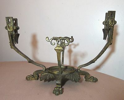 antique 1800s ornate Victorian dore bronze French fish tank bowl stand holder