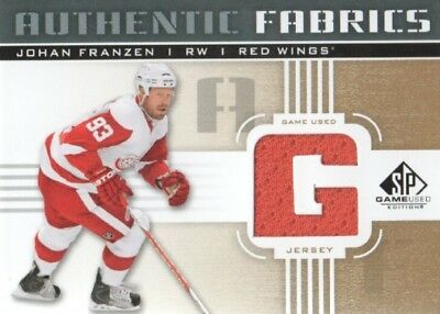 2011-12 SP Game Used Authentic Fabrics Gold #AFJF1 Johan Franzen G Jersey