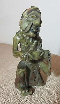 antique 19th century hand carved Chinese soapstone stone statue sculpture figure