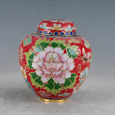 Chinese Cloisonne Hand-made Lotus Pot JTL1020