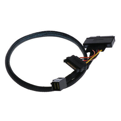 CableCreation 2.5FT Mini SAS HD Cable Internal Mini SAS SFF 8643 to U.2 SFF 8639 Cable with 4 Pin SATA Power Connector for Workstations,Servers and More CS0119