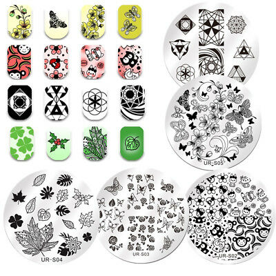 Nail Art Image Stamping Templates Nature Flower Cute Animals Stamp Tool UR Sugar