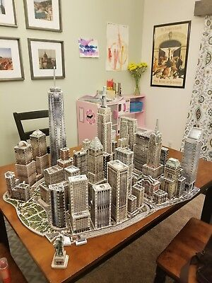 NEW YORK CITY PUZZLE SET WREBBIT 3D Puzz EAST WEST FINANCIAL WORLD TRADE