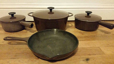 Vintage French Cousances Cookware Set - Enameled Cast Iron - Made in France