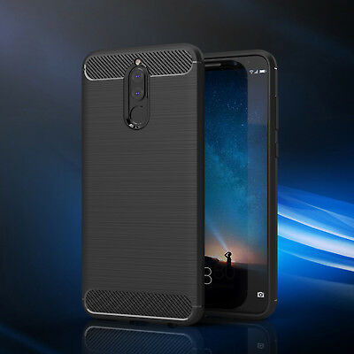 For Huawei Mate 10 Lite Cover 360° Shockproof Carbon Fiber Armor Silicone Case