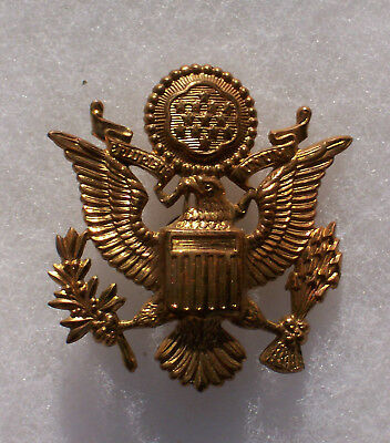 Ww2 Army Officers Cap Eagle Gemsco Maker Marked
