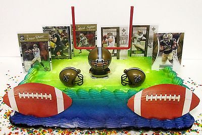 NEW ORLEANS SAINTS Birthday Cake Topper Featuring Drew Brees And Mark Ingram