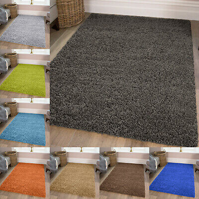 Shaggy Rug Rugs Small Large Size Thick Plain Soft Living Room Bedroom Floor New