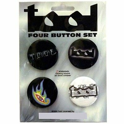 Tool 4 Button Badge Set Official Metal Badges New