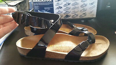 Birkenstock - Yara - Black Varnish Rrp $132 Save $37