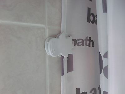 Pack Of 2 Anti Splash Shower Curtain Clips
