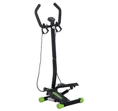 HOMCOM Mini Stepper with Handle Fitness Machine, Home Gym Exercise Machine