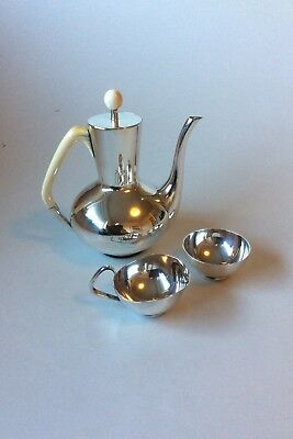 F. Hingelberg Sterling Silver Mocca Service by Svend Weihrauch