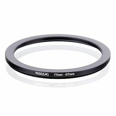 RISE(UK) 77-67MM 77 MM- 67 MM 77 to 67 Step Down Ring Filter Adapter