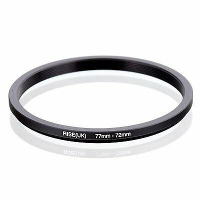 RISE(UK) 77-72MM 77 MM- 72 MM 77 to 72 Step Down Ring Filter Adapter