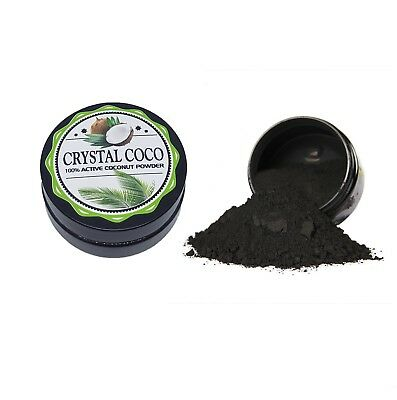 Crystal Coco Activated Charcoal Natural Teeth Whitening Powder