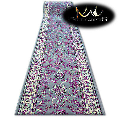 Modern Hall Carpet Runner BCF BASE grey TRADITION Stairs 60-150cm extra longRUGS