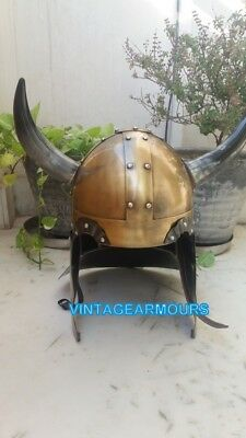 Halloween Gift Medieval Knight Ancient Armour Collectible Viking Horn Helmet