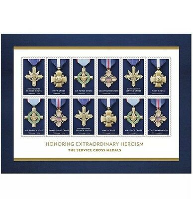 USPS New The Service Cross Medals Souvenir Sheet of 12 Forever Stamps