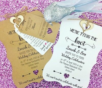 Rustic Wedding Invitation Bundle, Shabby Chic, Rustic, Vintage, Tying The Knot