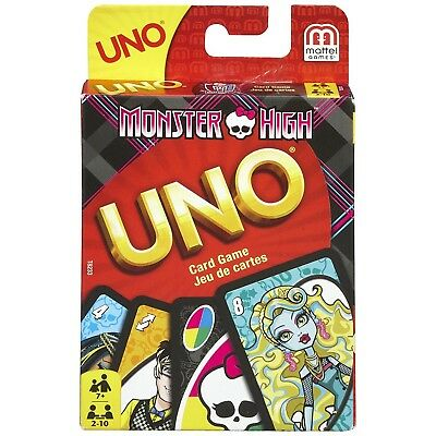 Mattel Monster High Uno Card Game - T8233