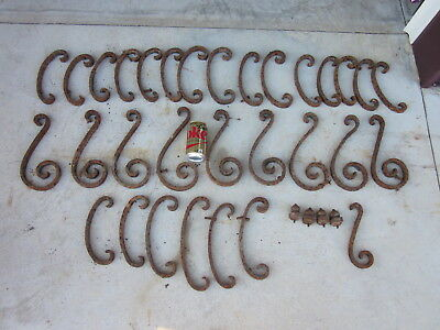 Salvaged Architechtural Parts From An Iron Fence Or Railing~Metal Craft~Repurpos