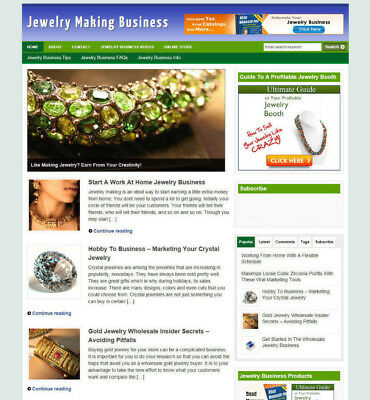 Jewelry Making Blog Website + Affiliate Options And New Domain + Hosting