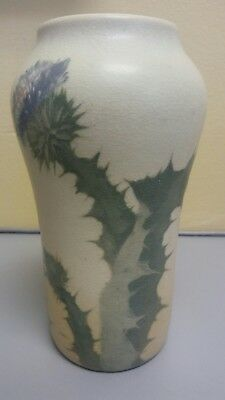 Unique Rookwood Pottery Vellum Vase Thistle Fred Rothenbusch Early 1900's 935E