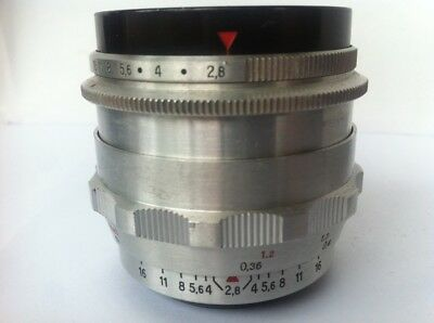 9-blade Carl Zeiss FLEKTOGON 2.8/35mm Pre-set Wide Angle Lens M42 In Silver