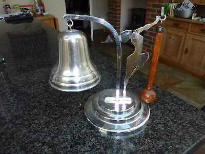 Art Deco Chrome Plated Dancing Lady Dinner Bell