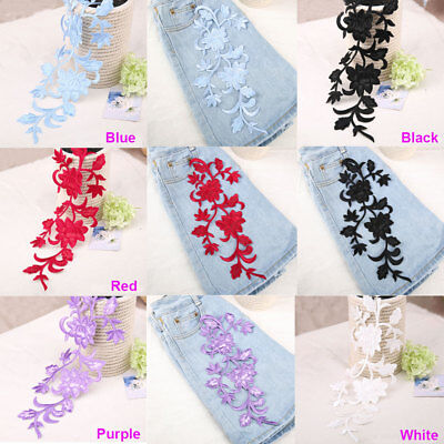 Embroidery Bridal Lace Applique Flower Lace Motif Sewing Wedding Lace Trim 1 PC
