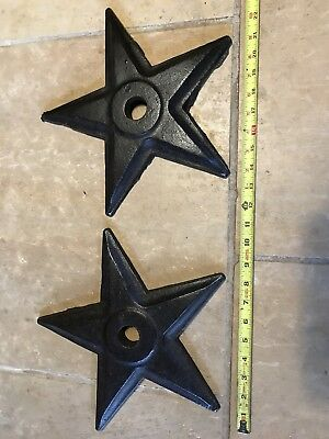 Cast iron masonry star washers.  Real antiques, tumbled and oiled.