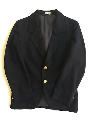 Vintage Christian Dior Youth Boys Dress Suit Jacket Navy Blazer