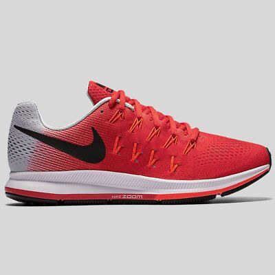 Brand New Nike Air Zoom Pegasus 33 Running Trainers Shoes Red Black 831352-600