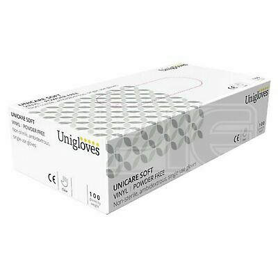 Unicare Vinyl Powder Free Gloves - Small (GS0062) - Pack of 100