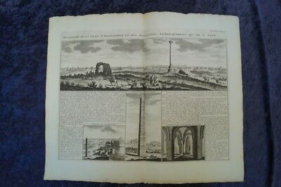 Africa Egypt Cairo Alexandria Collection 6 Orig.engravings Chatelain 1740 #b216