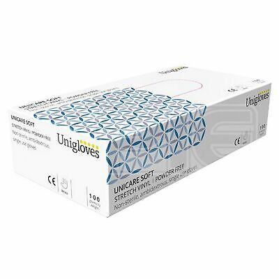 Unicare Stretch Vinyl Powder Free Gloves - Large (GS0134) - Pack of 100
