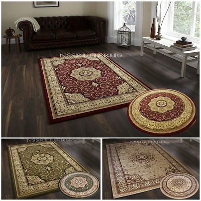 Traditional Classic Thick Dense Luxury Wool-Look Prestige Rugs Small-X Large