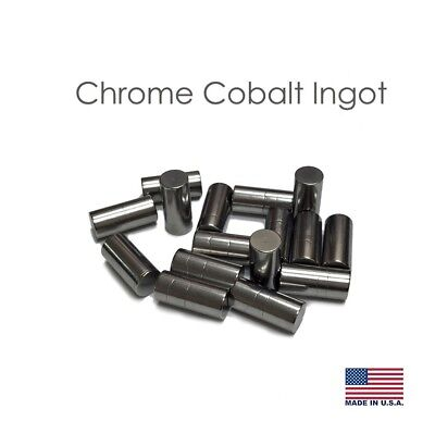 Chrome Cobalt Ingots Partial Cylinder Alloy 1 LB (Made in USA)