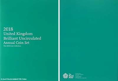 2018 Royal Mint Brilliant Uncirculated Annual Coin Set Booklet
